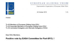 Positive vote by EASA Committee for Part-SFCL !