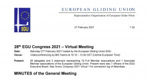 Minutes published – EGU Congress 2021